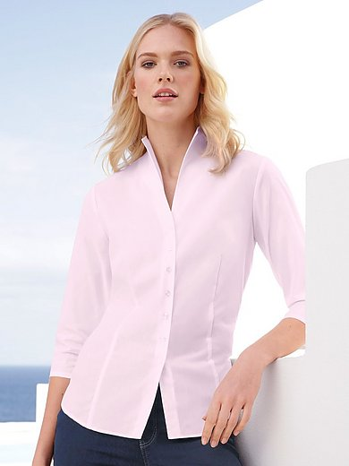 Eterna - Blouse with 3/4-length sleeves with slits