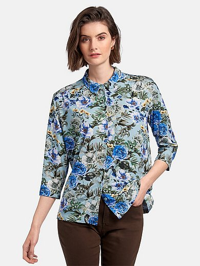 Peter Hahn - Jersey blouse with 3/4 length sleeves