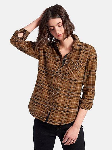 Looxent - Geruite blouse van 100% katoen met lange mouwen