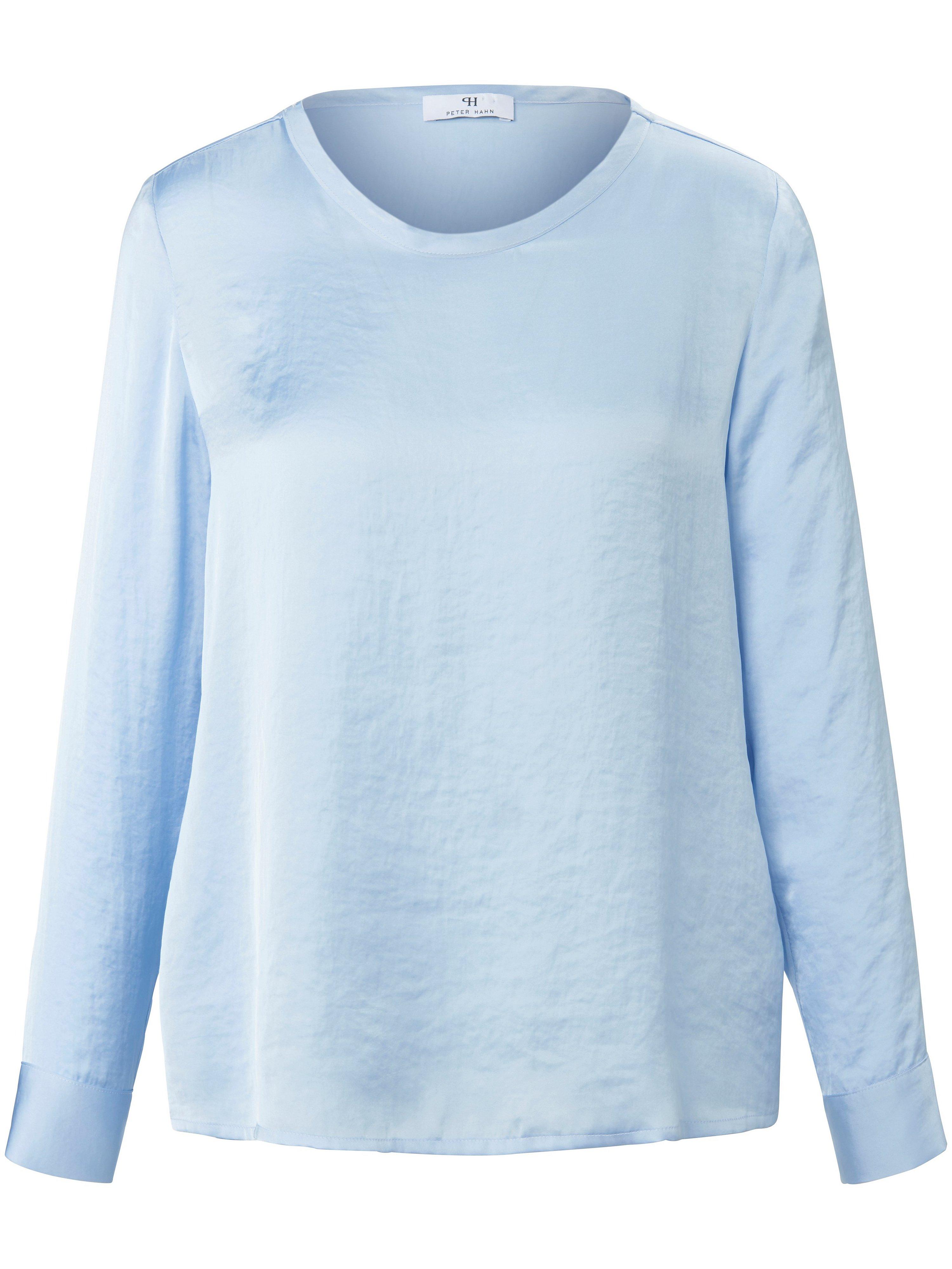 Shirt lange mouwen en ronde hals Van Peter Hahn blauw