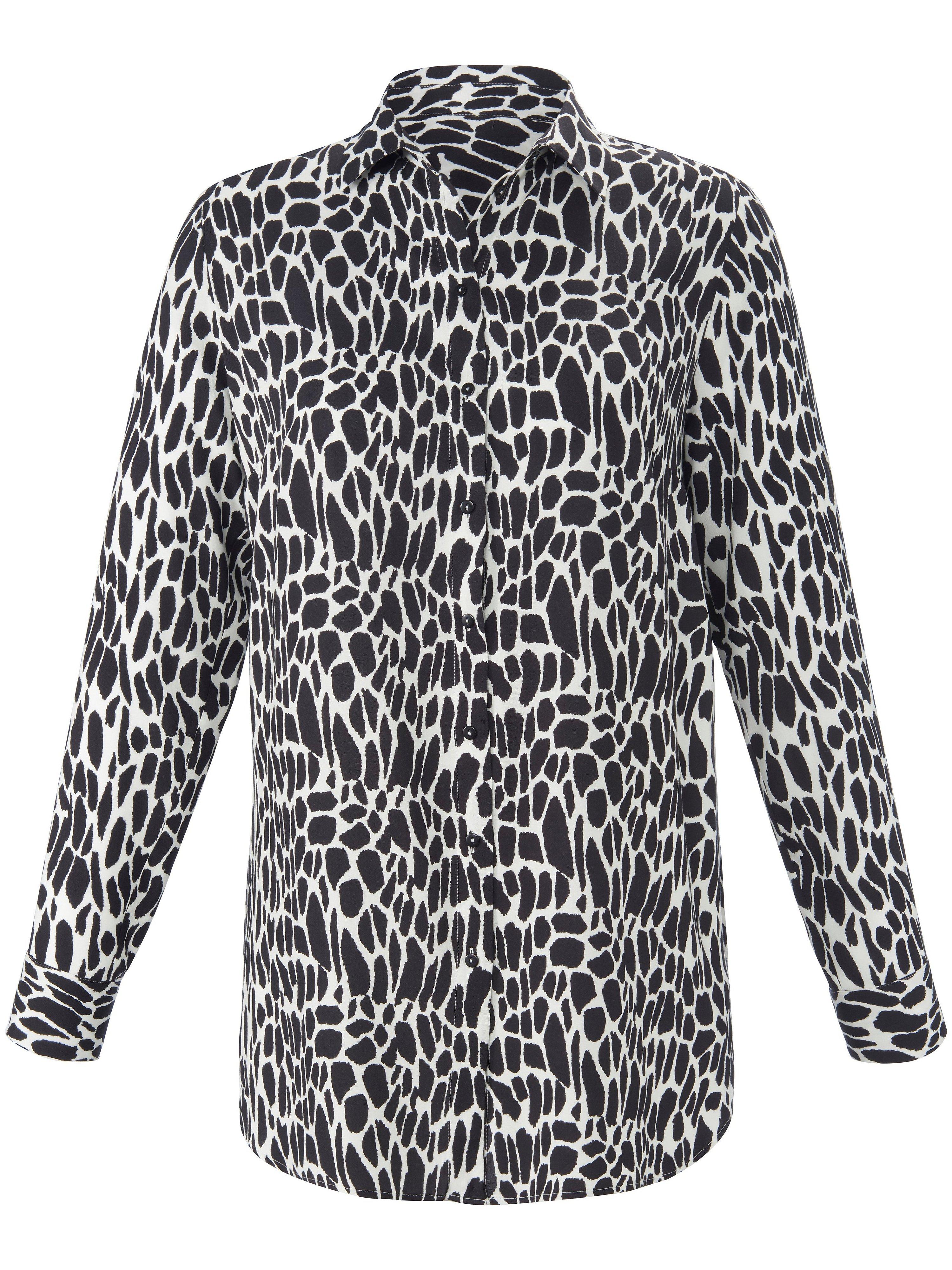 Lange blouse lange mouwen Van Emilia Lay zwart