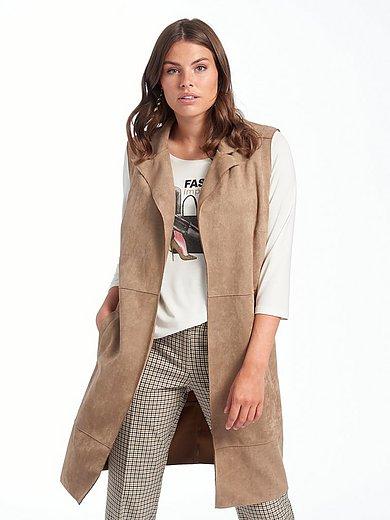 Emilia Lay - Mouwloos vest van imitatie-suèdeleer