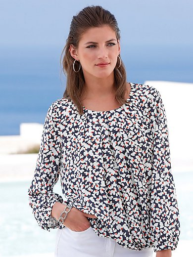 mayfair by Peter Hahn - Blouse zonder sluiting met ronde hals