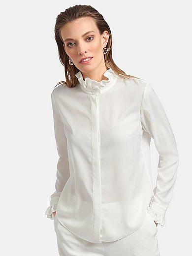 Uta Raasch - Bluse mit Rüschen-Stehkragen
