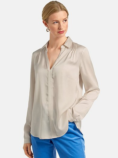 Basler - Slip-on style blouse with shirt collar