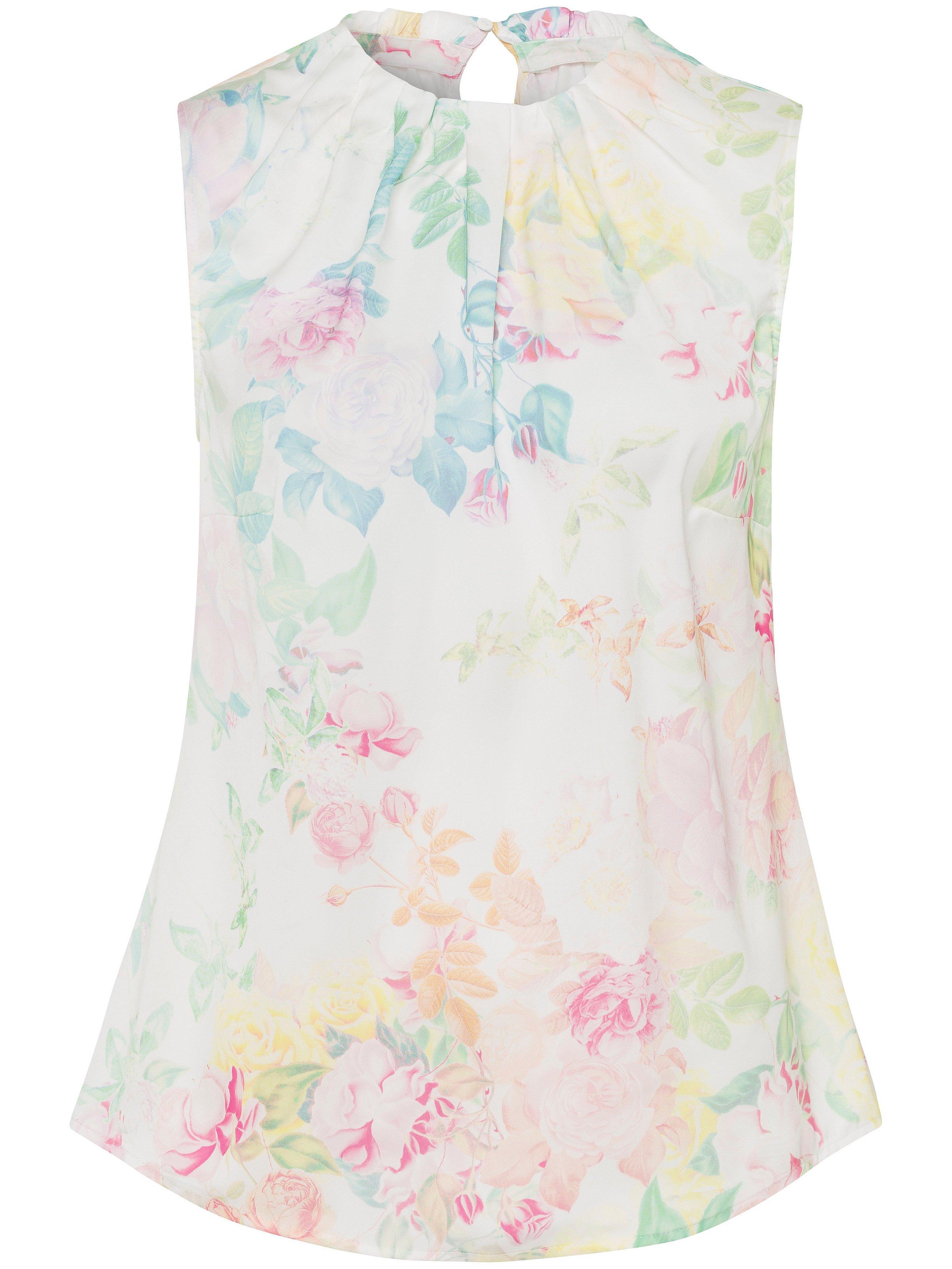 Mouwloze blouse bloemenprint Van Uta Raasch multicolour
