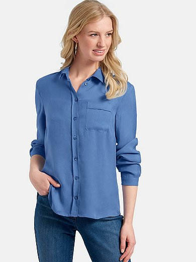 Basler - Shirt style blouse with patch breast pocket