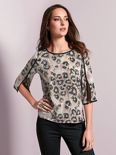 Airfield - Pull-on blouse with 3/4-length sleeves