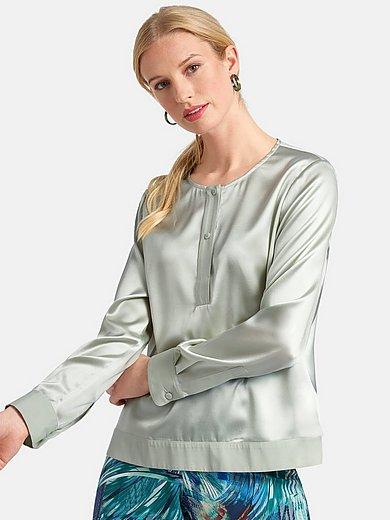Basler - Blus i dra på-modell med lång ärm