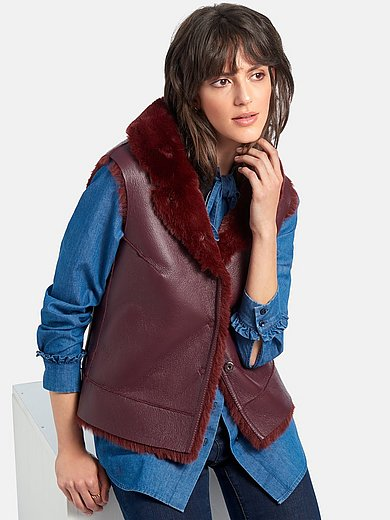 portray berlin - Reversible waistcoat in faux fur