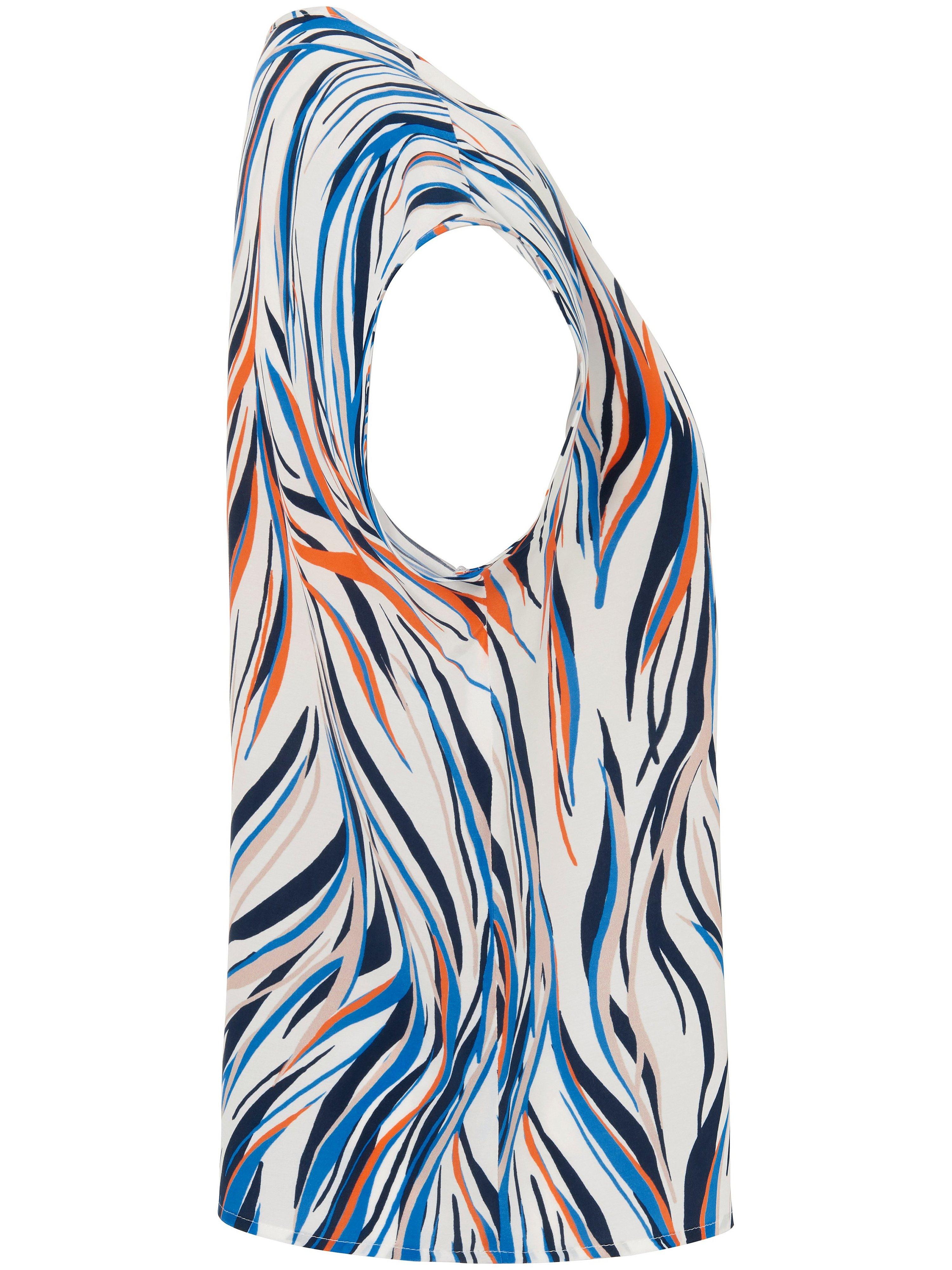 Bluse zebraprint Fra Peter Hahn hvid