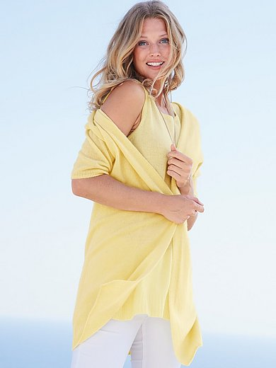 include - Stickat linne i 100% kashmir i Premium-kvalitet