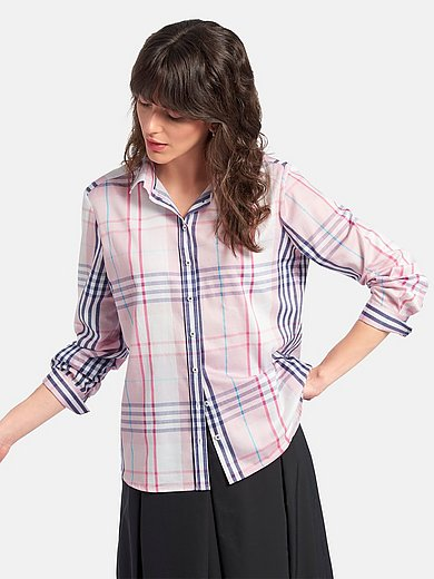 Eterna - Checked blouse in 100% cotton