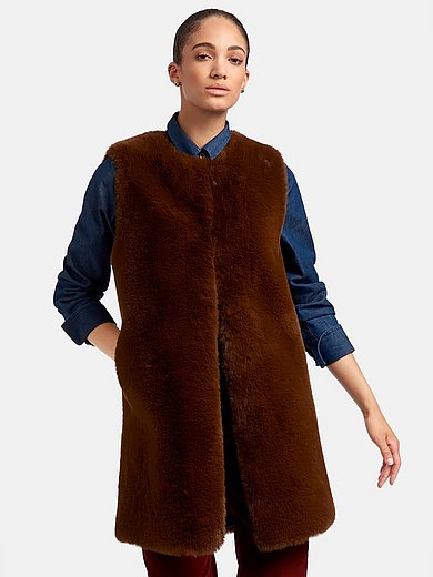 portray berlin - Reversible waistcoat with faux fur