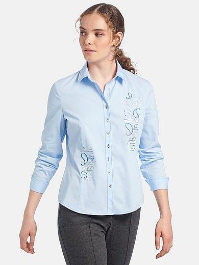 mayfair by Peter Hahn - Blouse in overhemdmodel met lange mouwen