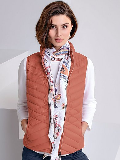 MYBC - Quilted down gilet with stand-up collar
