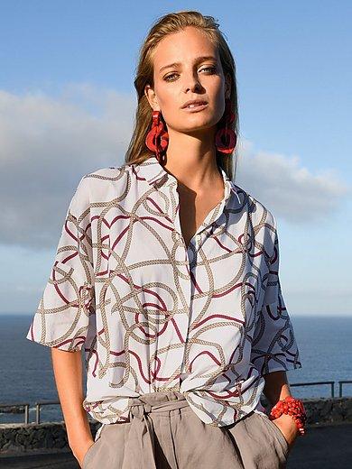 Peter Hahn - Oversized blouse van 100% katoen met korte mouwen