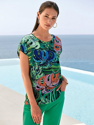 Peter Hahn - Top with drop shoulder and jungle print