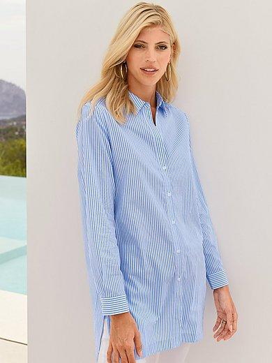 Peter Hahn - Lange blouse van 100% katoen met lange mouwen