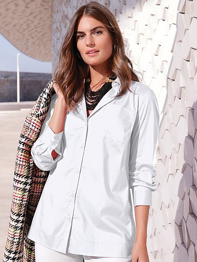 Emilia Lay - Blouse with shirt collar and long sleeves