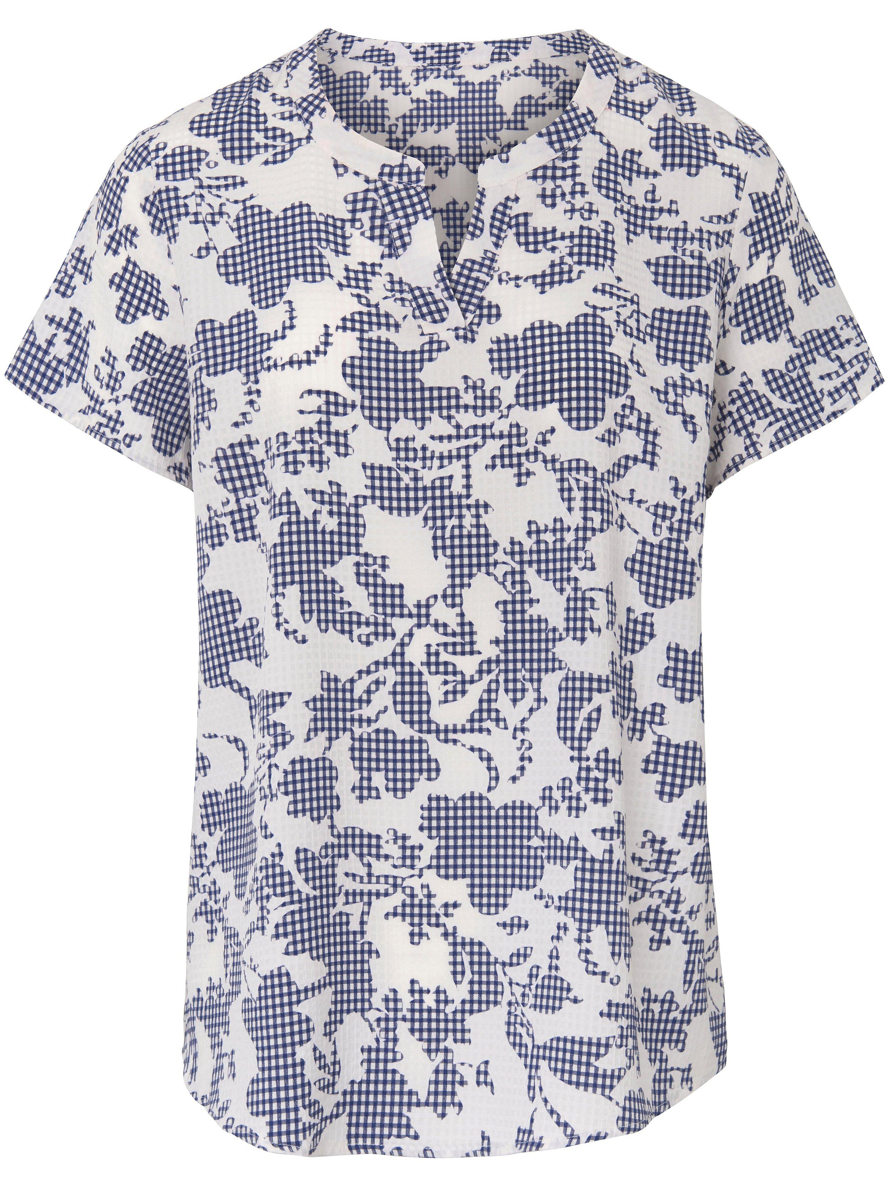 Shirt ronde hals en korte mouwen Van Peter Hahn wit