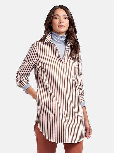 portray berlin - Lange blouse van 100% katoen met lange mouwen