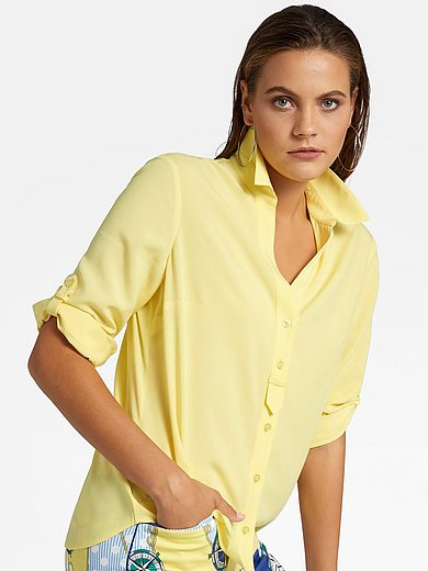 Basler - Blouse met overhemdkraag, V-hals en 3/4-mouwen