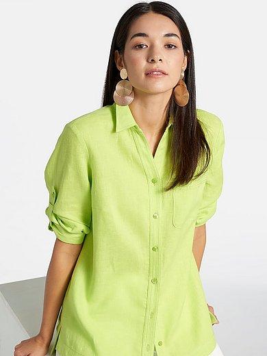 Basler - Long-Bluse aus 100% Leinen