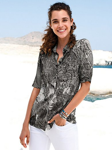 Peter Hahn - Jersey blouse with short sleeves
