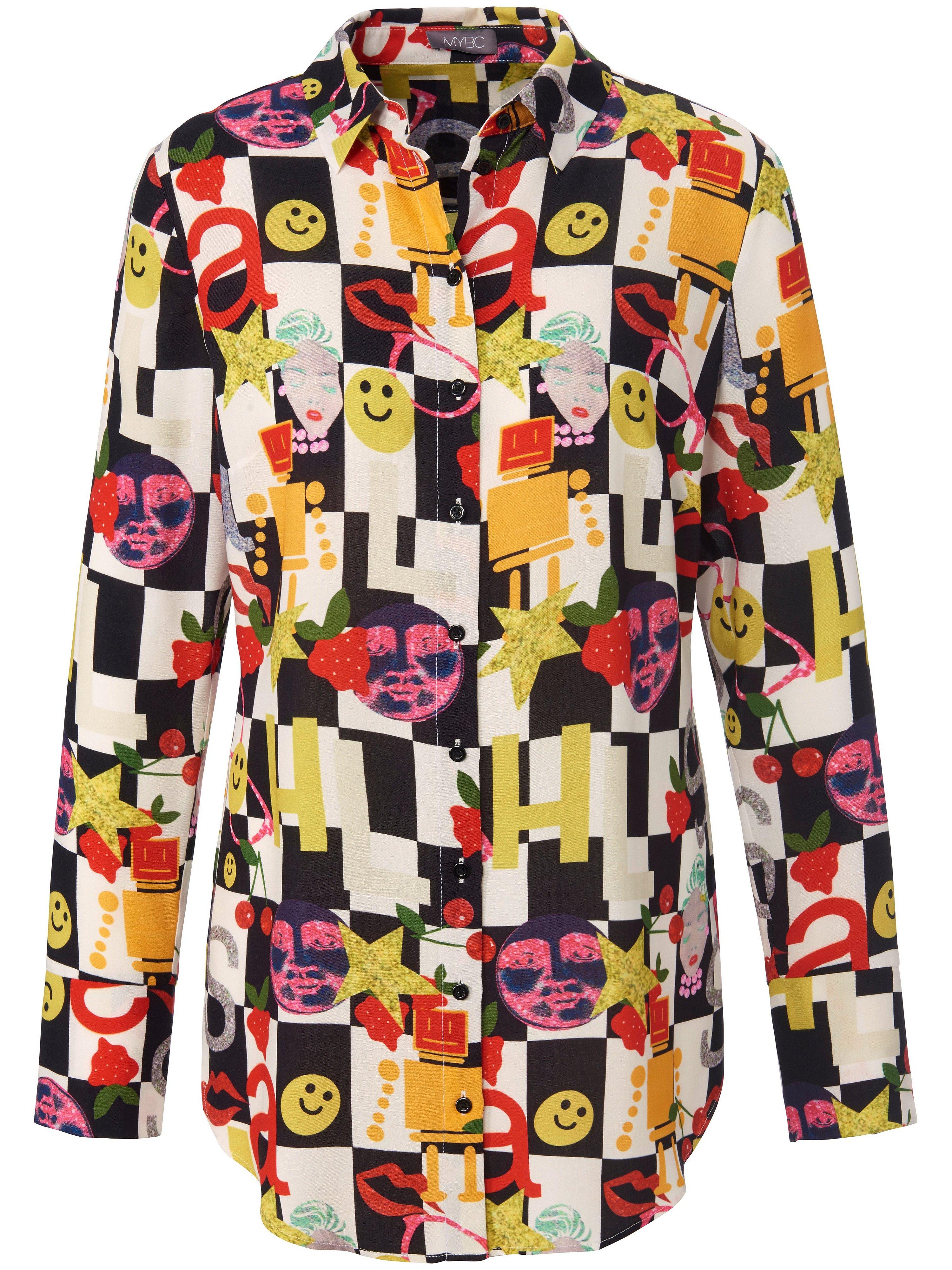 Lange blouse lange mouwen Van MYBC multicolour