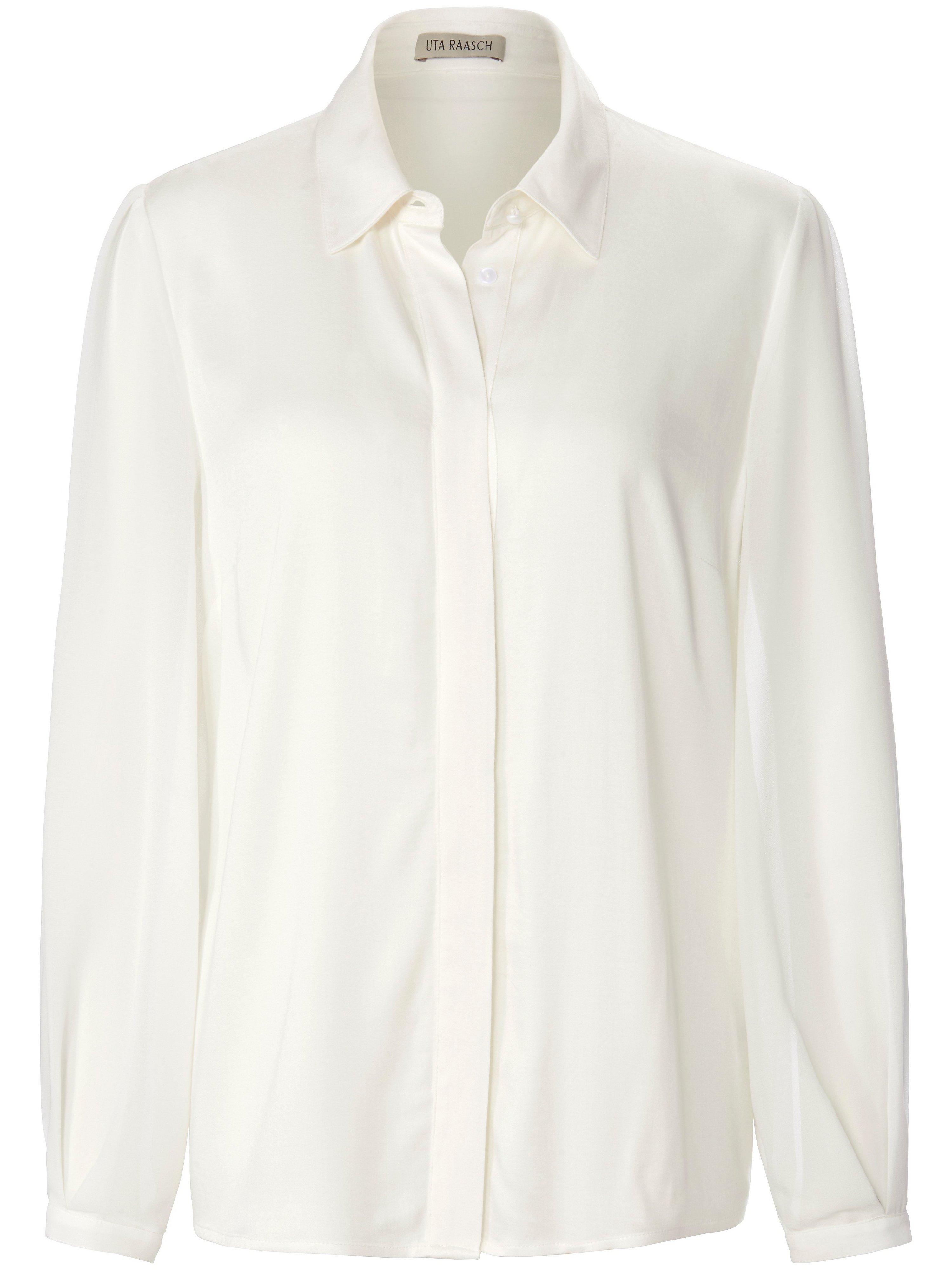 Blouse lange mouwen en overhemdkraag Van Uta Raasch wit