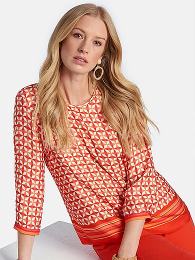 Basler - Pull-on style blouse with 3/4-length sleeves