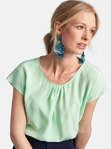 Basler - Bluse mit gerafftem Ausschnitt