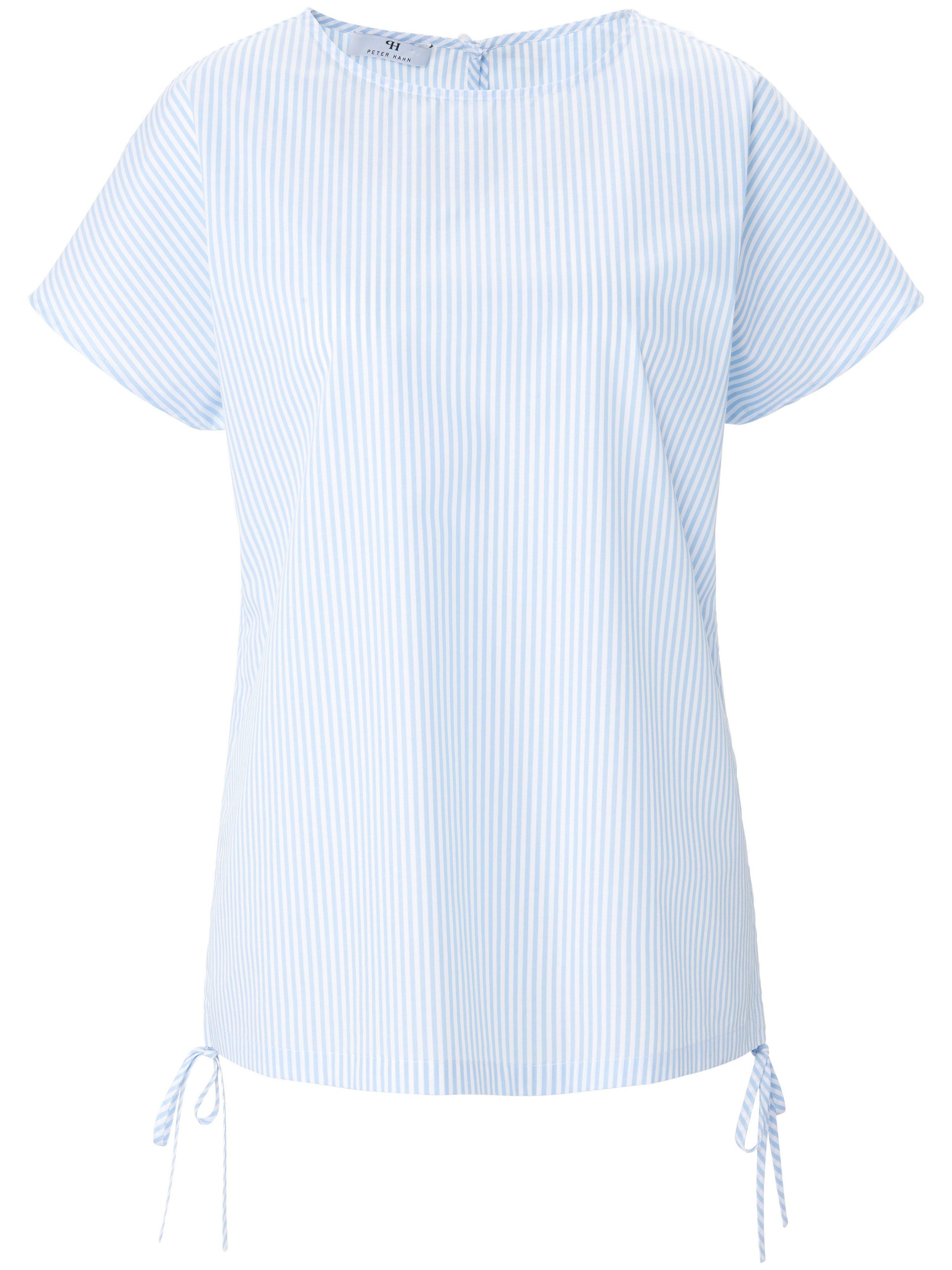 Shirt 100% katoen verlaagde schoudernaden Van Peter Hahn blauw