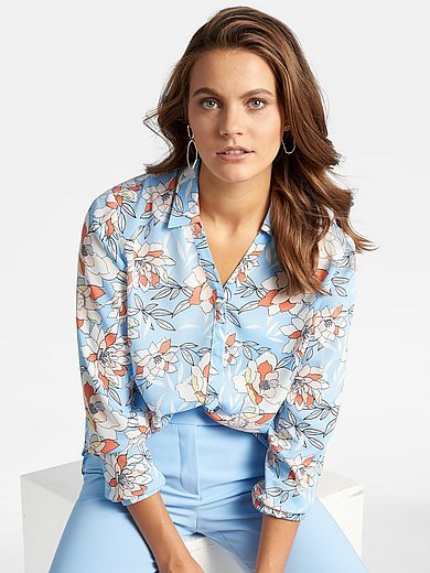 Basler - Shirt style blouse with floral impressions