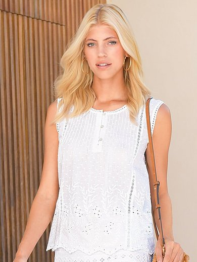 Peter Hahn - Lace top in 100% cotton