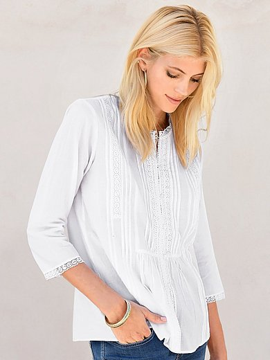 Peter Hahn - Blouse with 3/4-length sleeves in 100% cotton