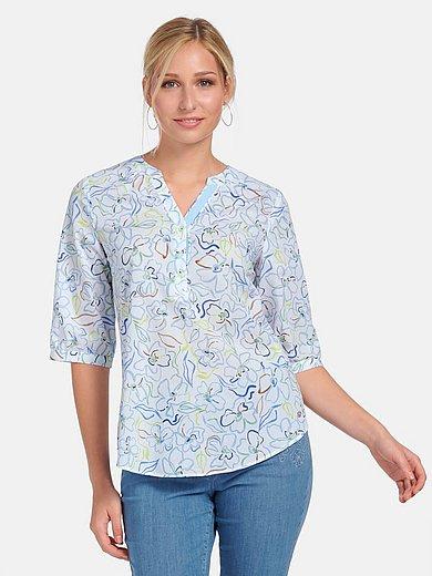Basler - Round neck blouse in 100% cotton