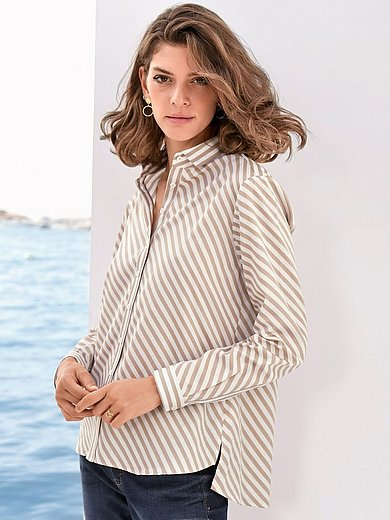 Eterna - Striped blouse in 100% cotton