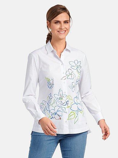 Basler - Long-sleeved blouse in 100% cotton