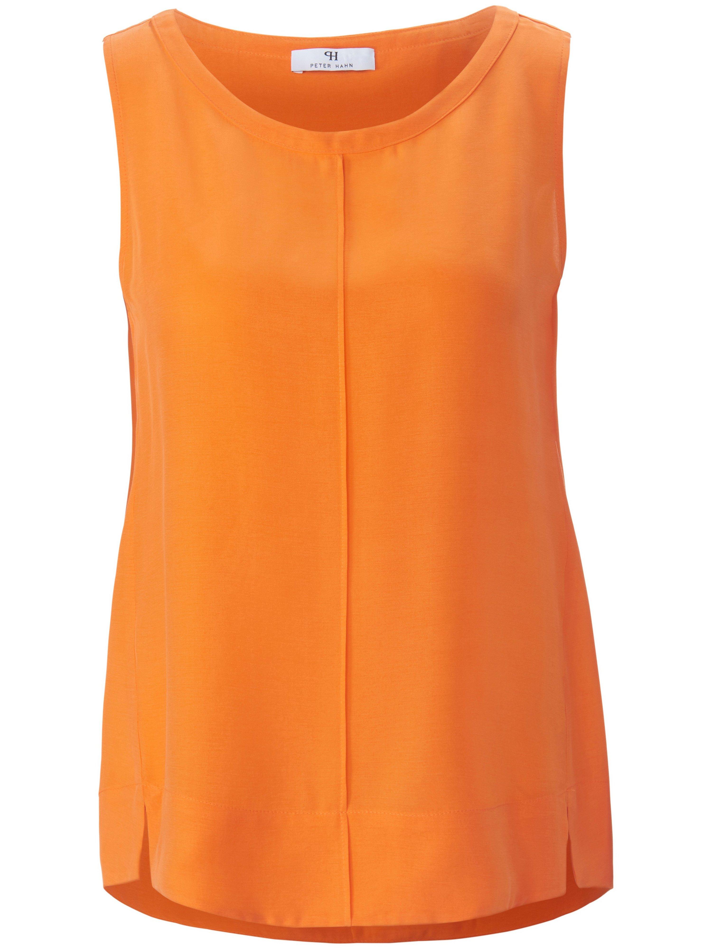 Top in losjes vallend model in lichte A-lijn Van Peter Hahn oranje