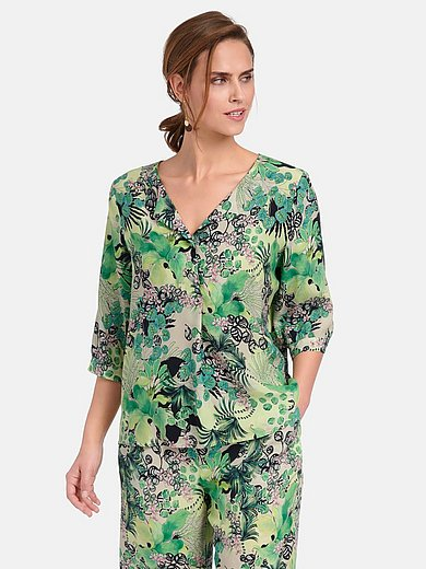 Basler - Tunic with 3/4-length sleeves and safari print