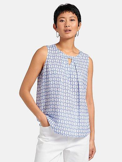 Eterna - Mouwloze blouse met grafisch minimal-dessin