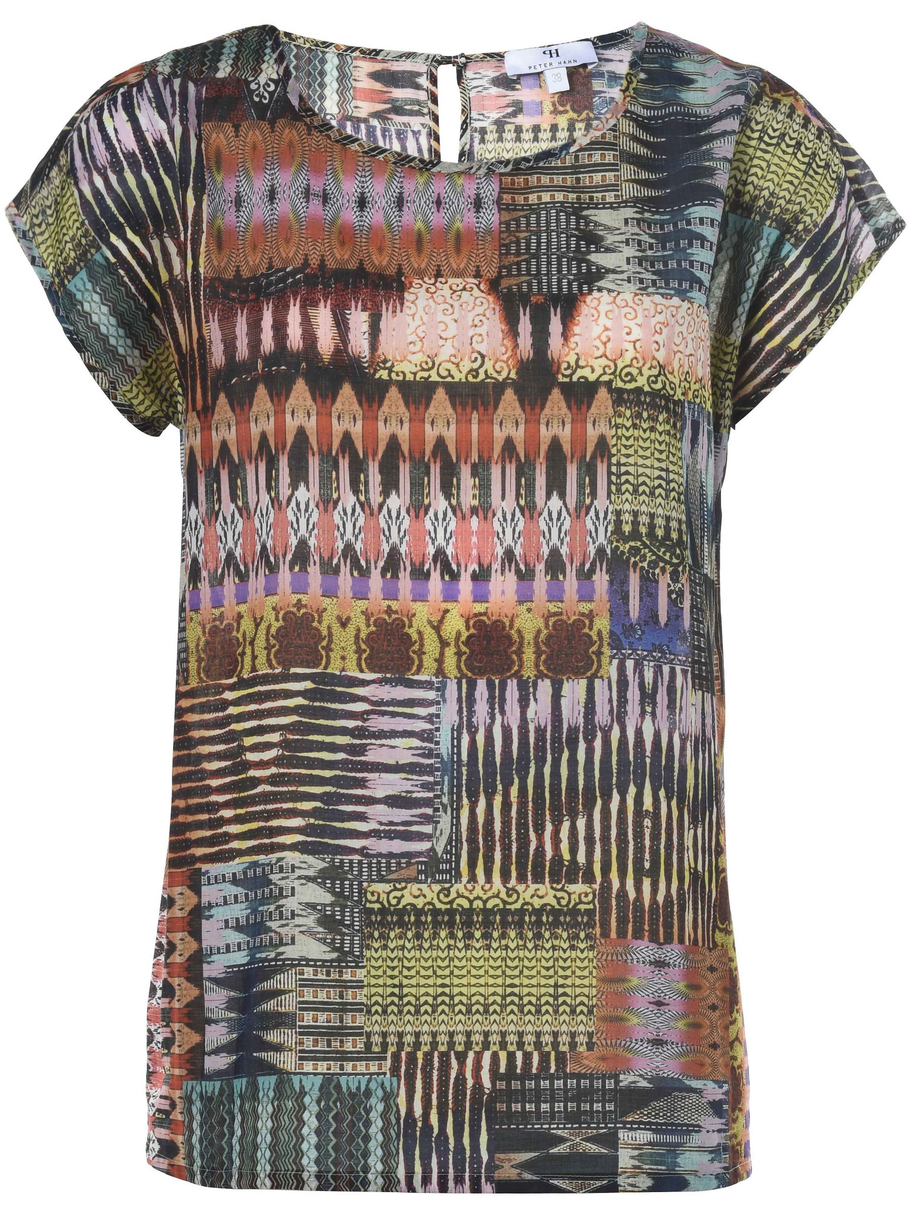 Shirtblouse 100% katoen dessin Van Peter Hahn oranje