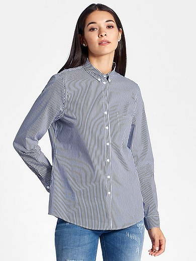 Peter Hahn - Bluse mit Button-down-Kragen
