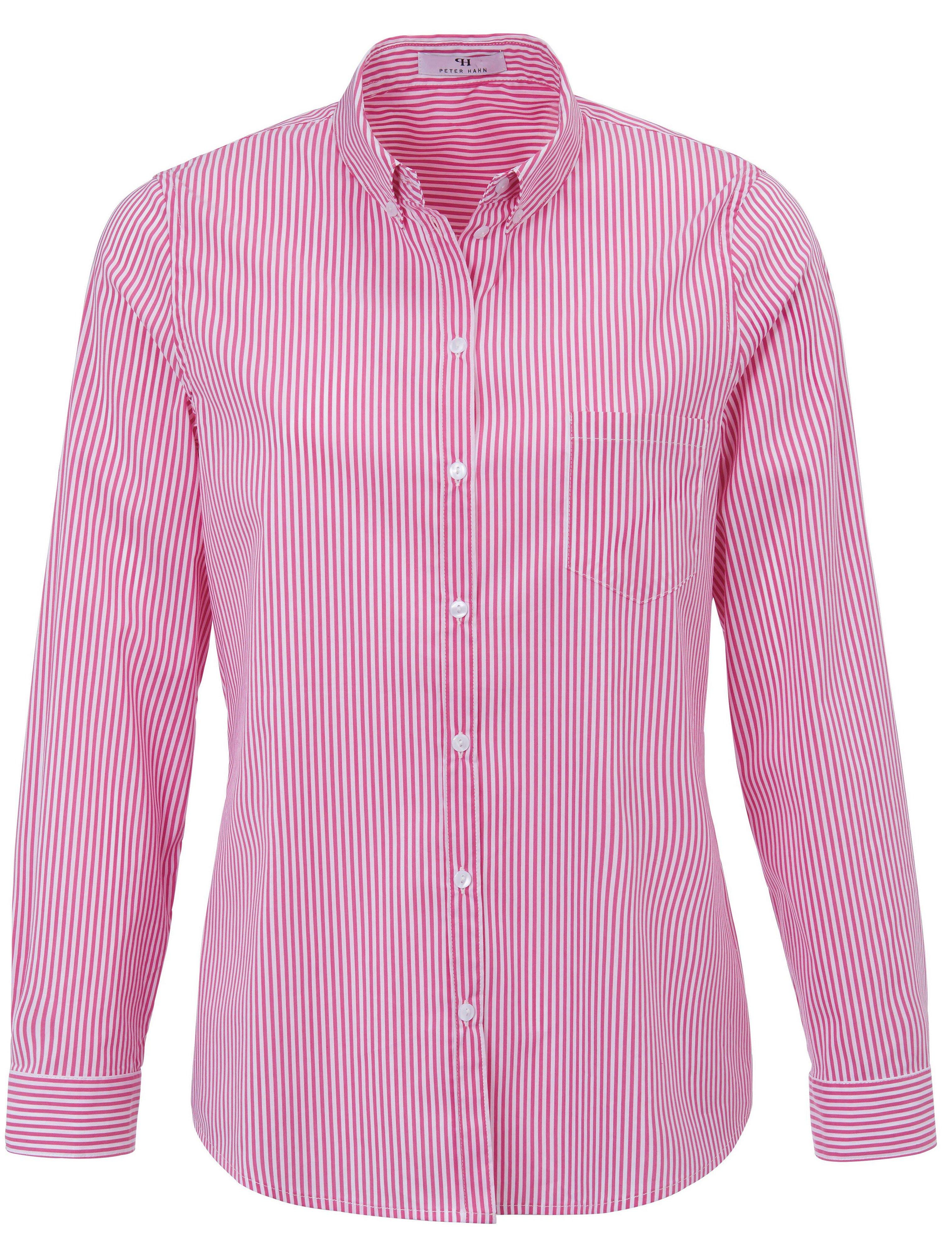 Blouse button-downkraag Van Peter Hahn roze
