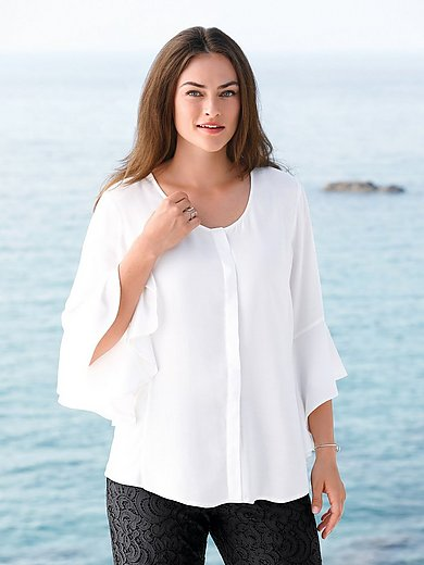 Emilia Lay - Blouse with trumpet-shape sleeves