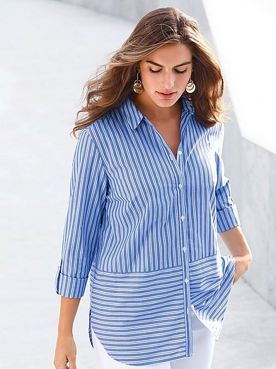 Emilia Lay - Long-Bluse im Herrenhemden-Stil