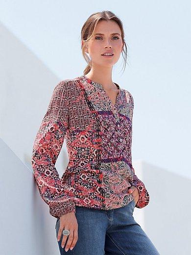 Betty Barclay - Skjorte i patchwork-look med lange ærmer