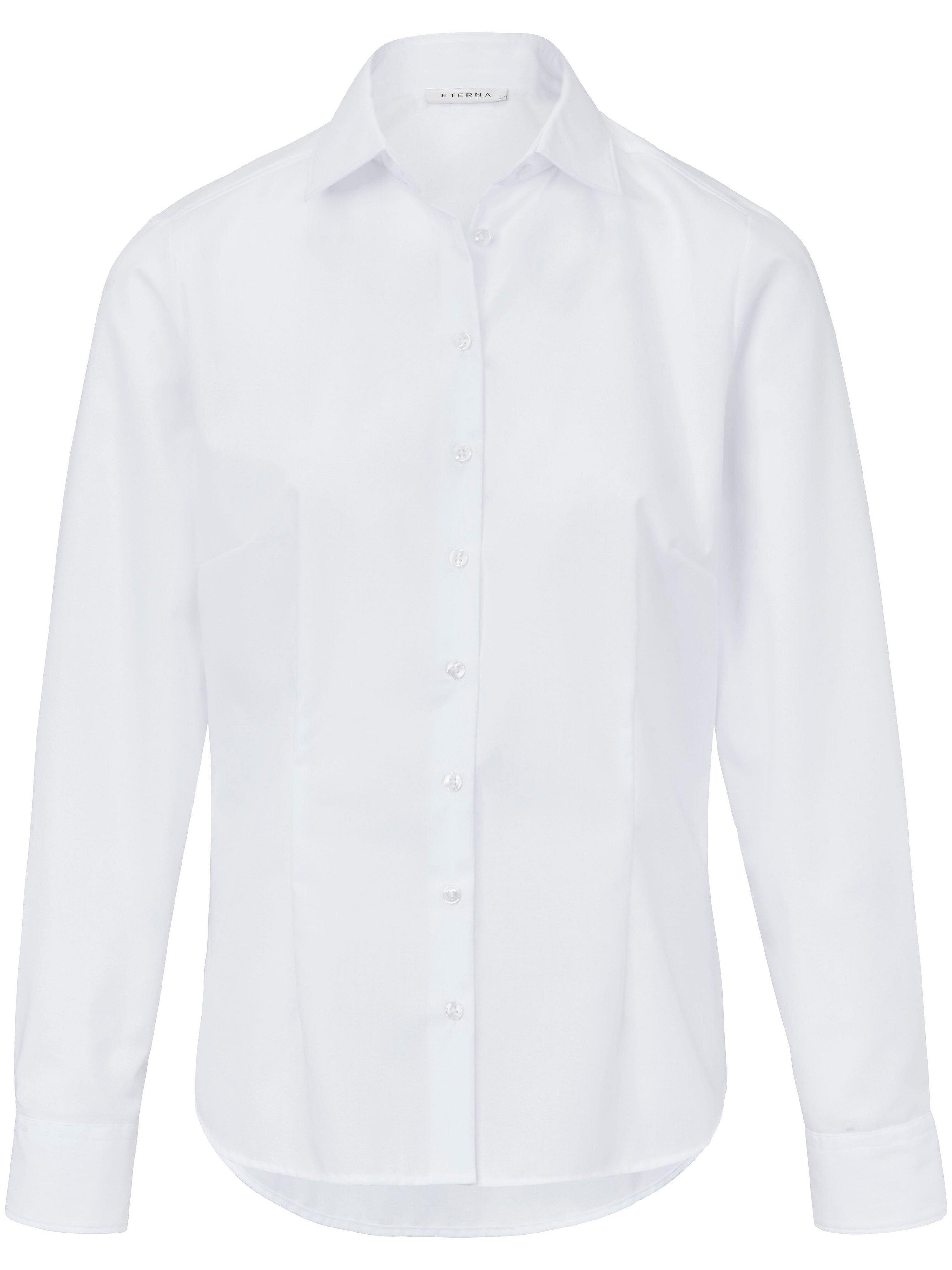 Overhemdblouse lange mouwen Van Eterna wit